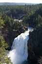 Yellowstone National Park Waterfall Royalty Free Stock Photo