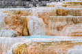 Yellowstone, Palette falls, Mammoth Hot Springs Royalty Free Stock Photo