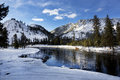 Yellowstone River, Winter, Yellowstone National Park Royalty Free Stock Photo