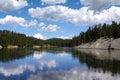 Yellowstone river yellowstone national park wyoming usa beautiful reflections of at Stock Photo