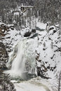 Yellowstone upper falls in winter Royalty Free Stock Photo