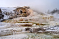 Yellowstone in winter hot springs national park Royalty Free Stock Photo