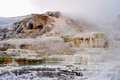 Yellowstone in winter hot springs national park Royalty Free Stock Image