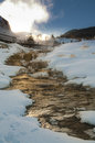 Yellowstone Winter Landscape Royalty Free Stock Photo