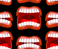 Yells lips seamless pattern. cry background. aggressive emotion