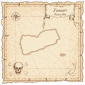 Yemen old pirate map.