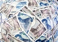 Yen banknotes of the Japanese currency Royalty Free Stock Image