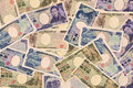 Yen banknotes mix of background Royalty Free Stock Photography