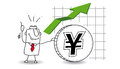 Yen is growing up Royalty Free Stock Photo