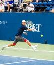 Yen hsun lu plays center court at the winston salem open in winston salem nc Stock Photo