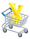 Yen money trolley concept Stock Photo
