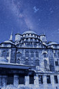 Yeni cammii mosque at night Royalty Free Stock Photos