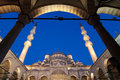 Yeni Mosque By Night, Istanbul Royalty Free Stock Photography