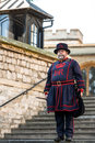 Yeoman Warder Beefeater in everyday undress uniform in Tower o Royalty Free Stock Photo