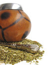 Yerba mate cup and straw Stock Image