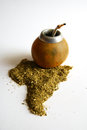 Yerba mate tea gourd vessel Royalty Free Stock Image
