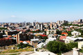 Yerevan city view from altitude Stock Photo