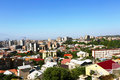 Yerevan city view from altitude Royalty Free Stock Photography