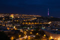 Yerevan at night view of armenia Stock Image