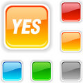 Yes   button. Stock Images