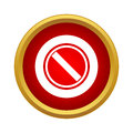 Yes, check mark icon in simple style Royalty Free Stock Photo