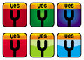 Yes - color abstract signs Stock Photo