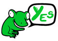 Yes frog creative design of Stock Photos