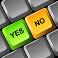 Yes and no button on the keyboard illustration Stock Images
