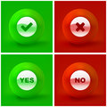 Yes and no icon set for design Royalty Free Stock Image