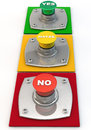Yes no maybe button Stock Images