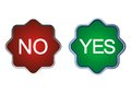 Yes or no symbols icons making decision Royalty Free Stock Images
