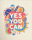 Yes you can quote poster design Royalty Free Stock Photo