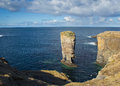 Yesnaby sea stack orkney on the west coast of s mainland Royalty Free Stock Photos