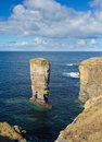 Yesnaby sea stack orkney on the west coast of s mainland Royalty Free Stock Photo