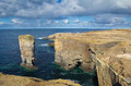 Yesnaby sea stack on the west coast of orkney s mainland Royalty Free Stock Photos