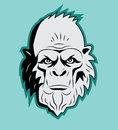 Yeti Bigfoot Head. Vector. Sasquatch. Abominable Snowman. Yeti Monster. Royalty Free Stock Photo