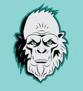 Yeti Bigfoot Head. Vector. Sasquatch. Abominable Snowman. Yeti Monster. Royalty Free Stock Photo