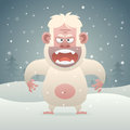 Yeti evil character in winter forest illustration format eps Stock Images