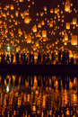 Yi Peng festival in Chiang Mai, Thailand Royalty Free Stock Photo