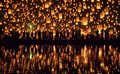 Yi Peng festival Chiang Mai, Thailand Royalty Free Stock Photo