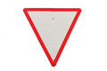Yield traffic sign Stock Images