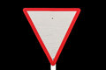 Yield traffic sign Stock Image