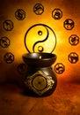 Yin yang and astrology Royalty Free Stock Photo