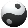 Yin-Yang ball Royalty Free Stock Photos