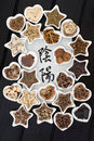 Yin yang chinese herbal medicine Royalty-vrije Stock Afbeelding