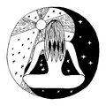 stock image of  Yin and yang decorative symbol.