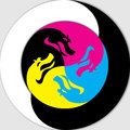 Yin and Yang - Dragon Royalty Free Stock Photo