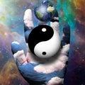 Yin Yang and Earth Royalty Free Stock Photo