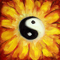 Yin Yang Flower Stock Photography