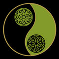 Yin-yang in green Stock Images